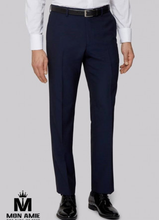 Men Regular Fit Trouser in Dark Blue